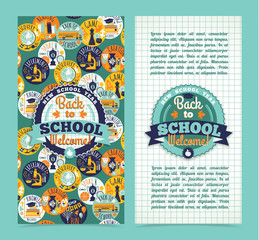 Back to school. Vector background.