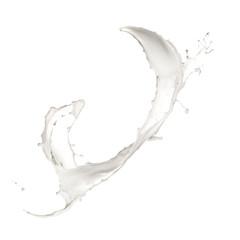 Milk splashes