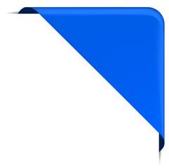 blaue Ecke Design Element