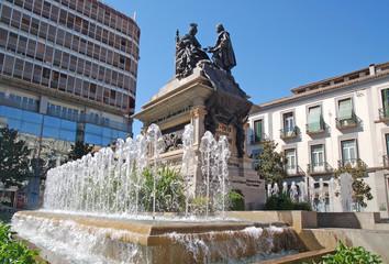 Columbus and Queen Isabella, monument in Granada
