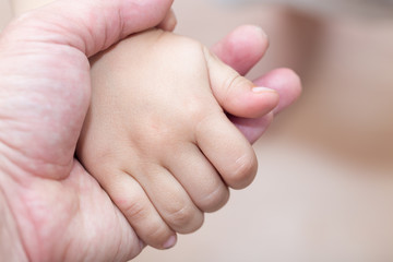 hand child and father