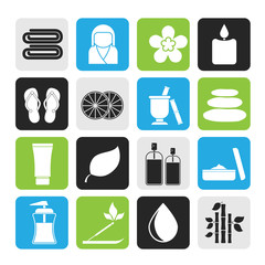 Silhouette Spa objects icons
