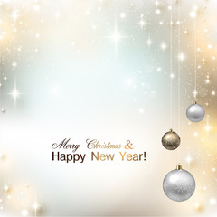 Elegant shiny Christmas background with place for text. Vector I