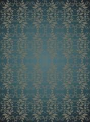Dark blue floral vector background