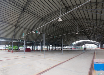 Empty market hall