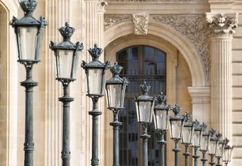 Lampadaires parisien, le louvre
