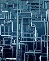 blue metal steel pipe background