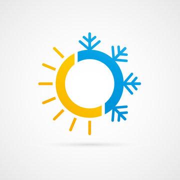 picto soleil/flocon de neig