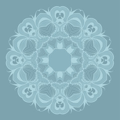 Round lace pattern with natural elements.
