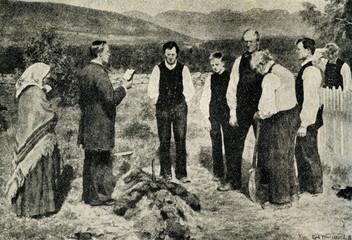 "Erik Werenskiold ""The Funeral"" (1885)"