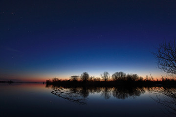 night landscape on the river