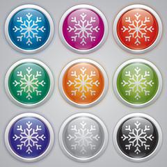 Snowflake, vector design element, new yer, snow balls