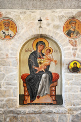 icon of the Holy face in the Orthodox Church in Pskov, Russia