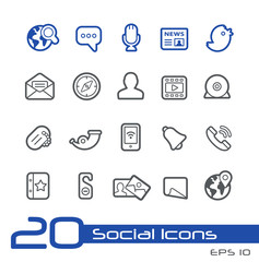 Social Network Icons // Line Series