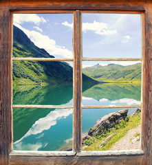 Wall Mural - Fensterblick Tappenkarsee