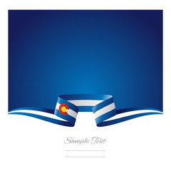Abstract background Colorado flag ribbon