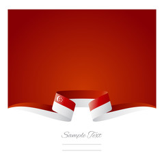 Abstract background Singaporean flag ribbon