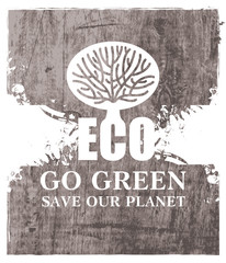 Go Green Recycle Eco Poster Concept