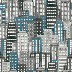Hand Drawn City Texture