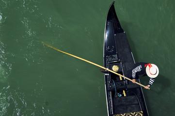 Keuken foto achterwand Gondolas Venice Italy Venetian Gondolier Punting Gondola