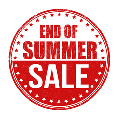End of summer sale stamp