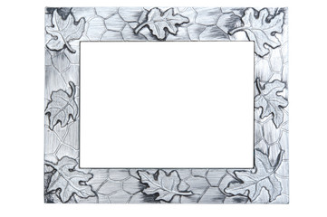 Abstract silver photo frame