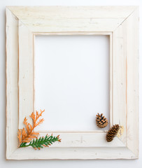 Autumn Fall wooden frame