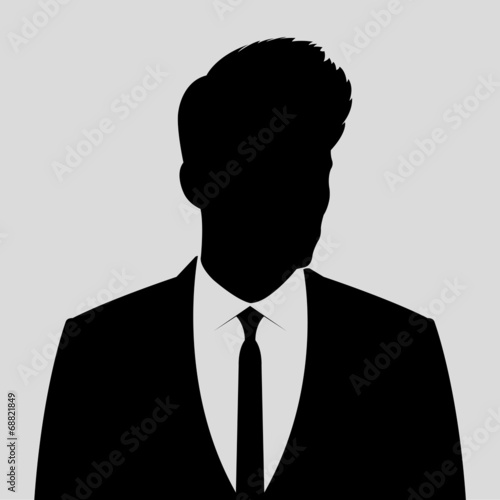 businessman silhouette avatar profile picture stock image and