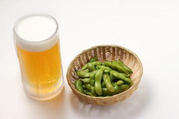 枝豆とビール