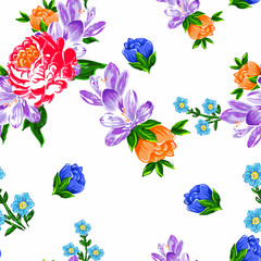Art flower multicolored background