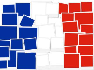 An illustration of the flag of France, photo frame