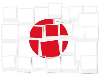 An illustration of the flag of Japan, photo frame