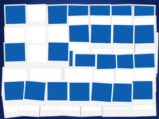 An illustration of the flag of Greece, photo frame