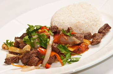 Peruvian food: Lomo Saltado