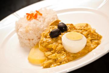 Peruvian Aji de Gallina dish