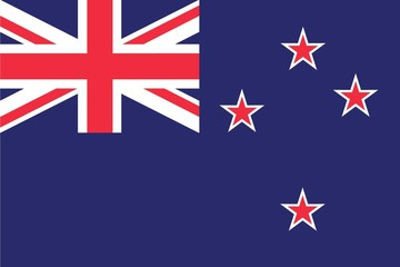 Illustration of the flag of New Zealand
