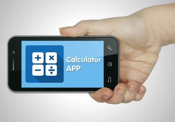 Calculator app. Keyboard