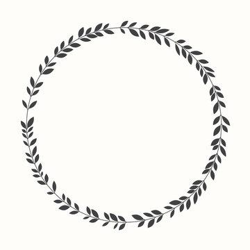 Vector laurel wreath, silhouette