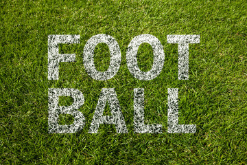 football text auf rasen