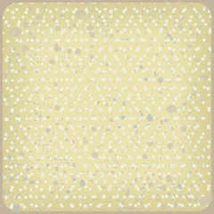 Polka dot vintage background. Vector rhombus pattern