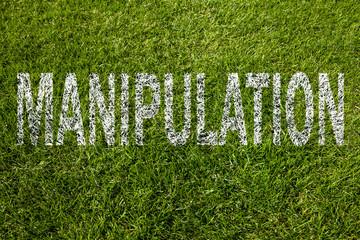 manipulation text auf rasen