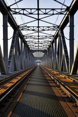 Fototapeta Kolejowy most kratownicowy obraz