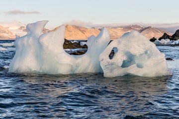 Glacier ice in the sea - Arctic landscape