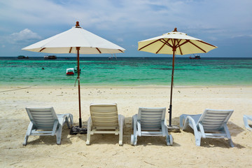 Wall Mural - Sea,sand and sun on holiday at Lipe island,Thailand