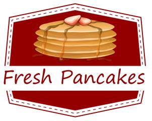 Fresh pancakes template