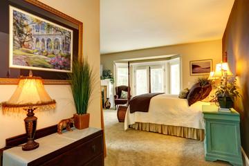 Cozy bedroom in luxury house
