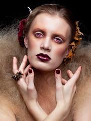 Halloween Beauty woman makeup