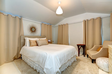 Elegant bedroom in soft mocha tones