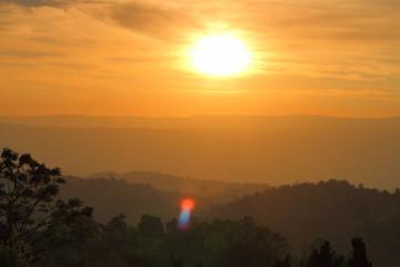 Evening Twilight Nature The Sun mountain