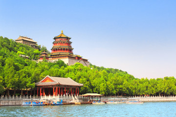 Fotorolgordijn Beijing Summer Palace in Beijing, China